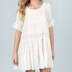 Altar'd State Honey Kissed Babydoll Lace Dress M